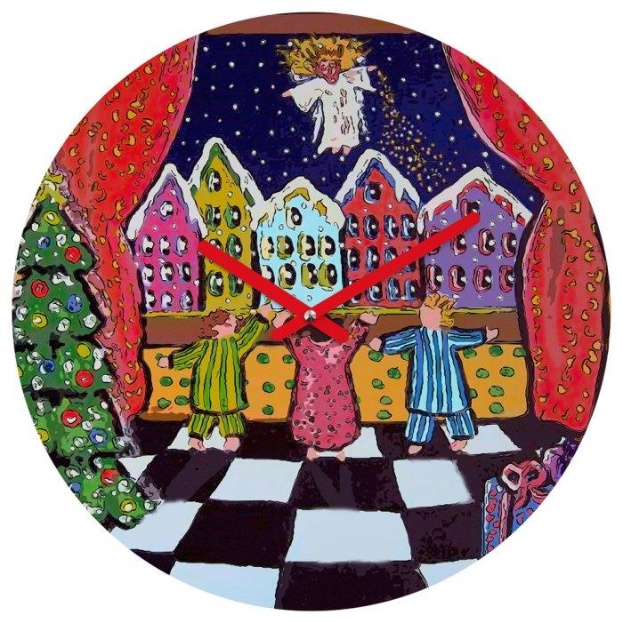 Christmas clock - painted