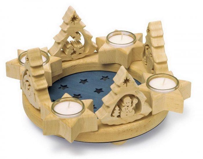 Christmas decoration idea 1 - wooden candleholder