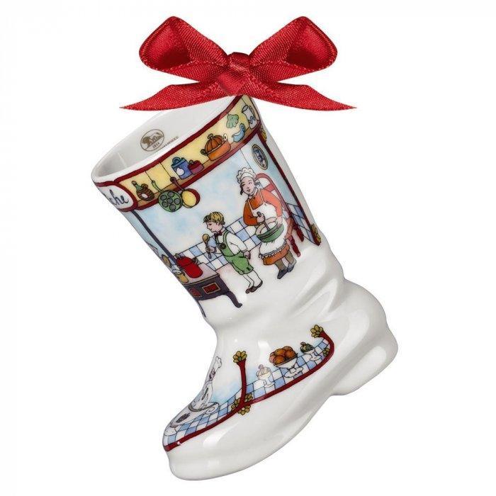 Christmas decoration idea 10 - white porcelain boot