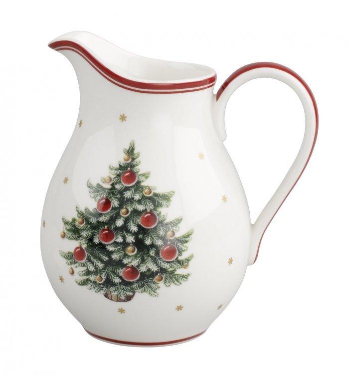 Christmas decoration idea 14 - white porcelain jug