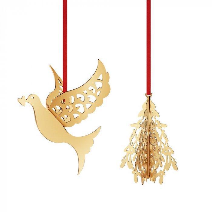 Christmas decoration idea 21 - golder accessories