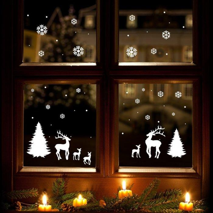 Christmas decoration idea 3 - window decals