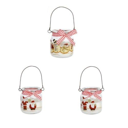 Christmas decoration idea 33 - lovely small handmade jars