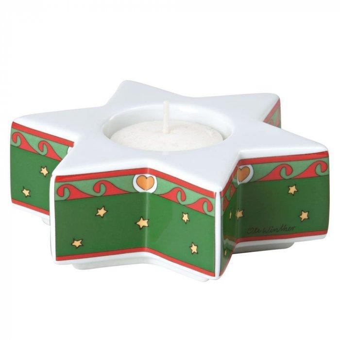 Christmas decoration idea 34 - white star candleholder
