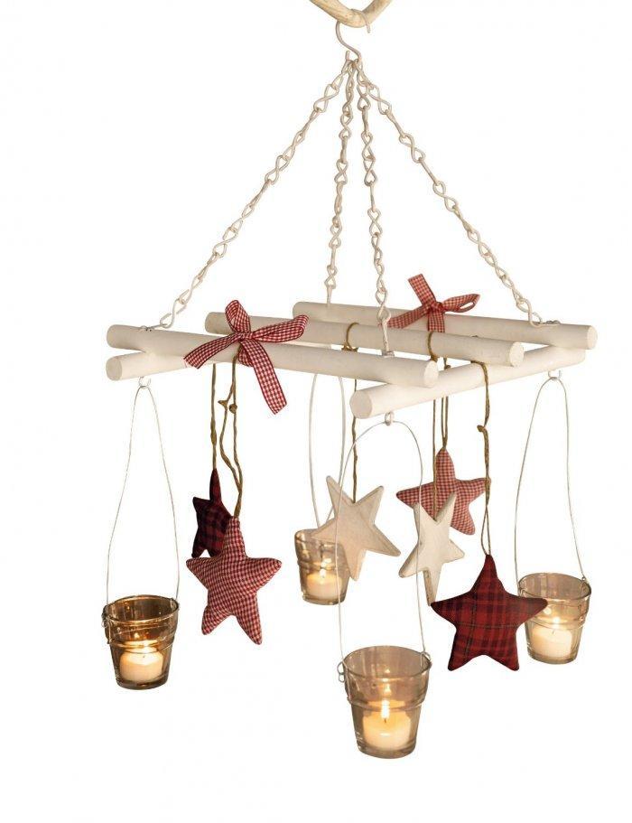 Christmas decoration idea 35 - decorative hanging candleholder