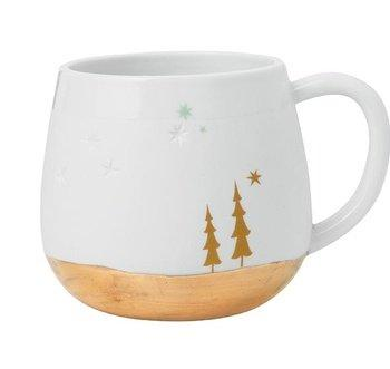 Christmas decoration idea 36 - white holiday cup