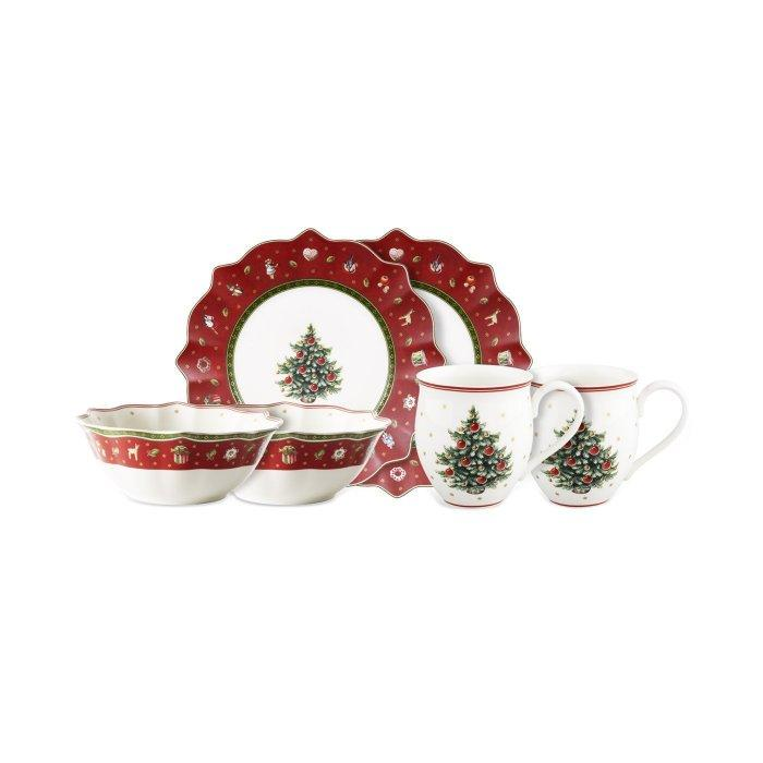 Christmas decoration idea 38 - set of plates and cups