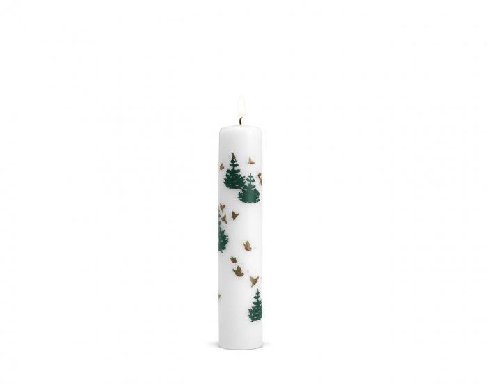 Christmas decoration idea 8 - white candle