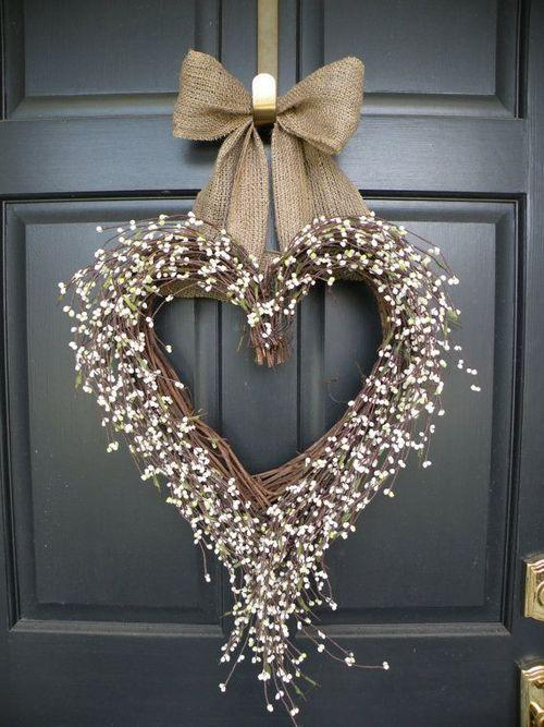 Christmas door wreath 10 - in the shape of a heart