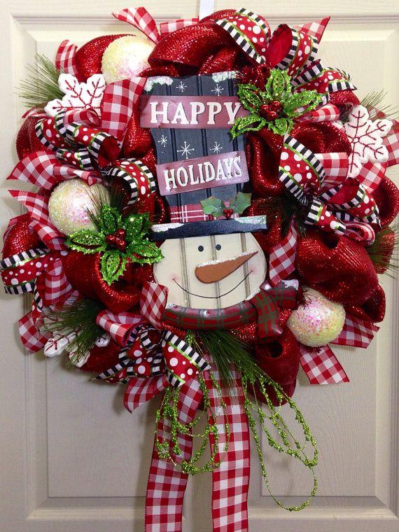 Christmas door wreaths for holiday spirit founterior for How to make christmas door wreaths