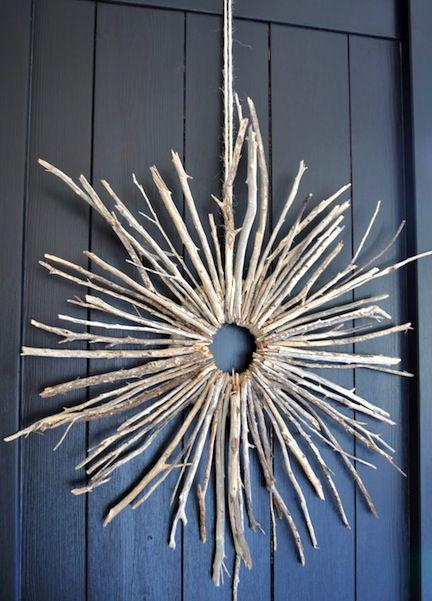 Christmas door wreath 15 - with tree branches