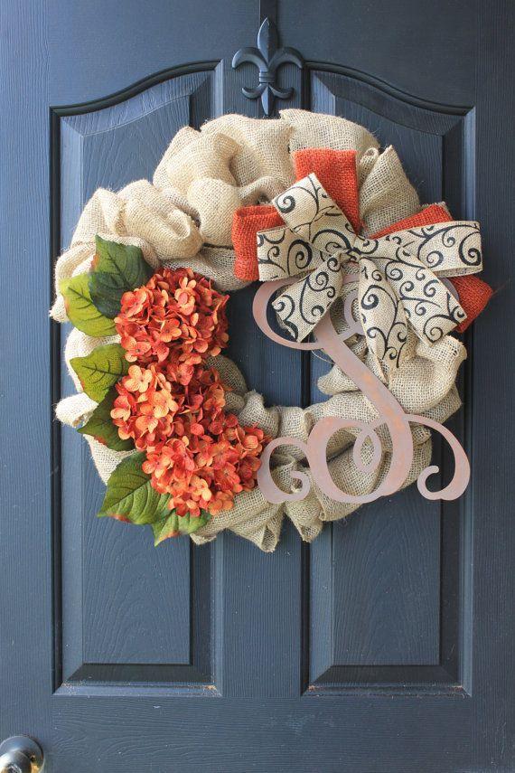 Christmas door wreath 6 - with red flowers