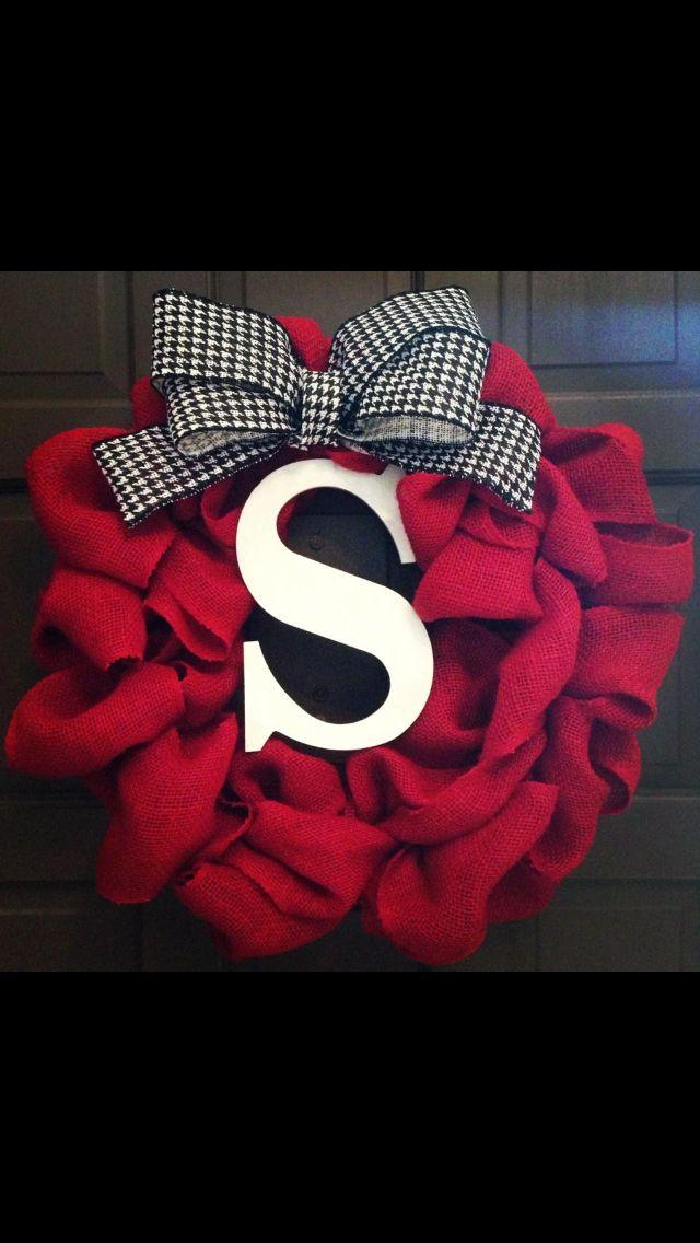 Christmas door wreath 8 - with the letter _S_
