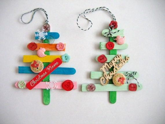 Christmas kids crafts - handmade trees