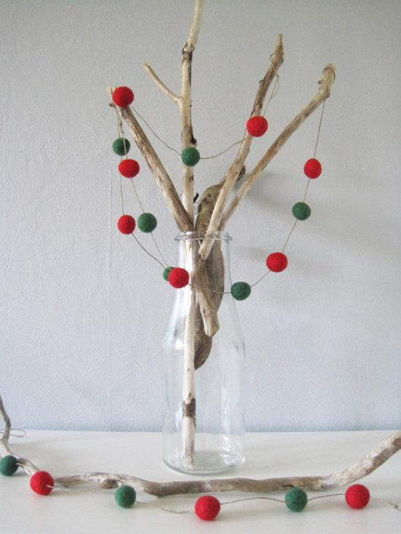 Christmas kids decor - with tree made of brances
