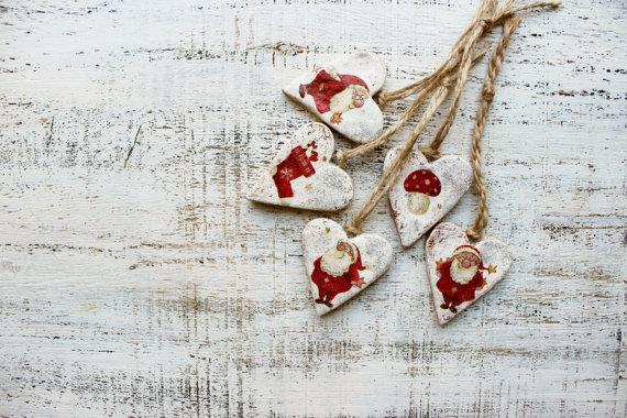 Christmas kids hearts - for beautiful decor