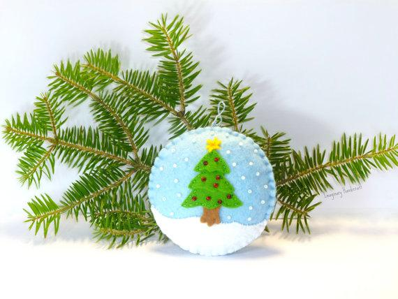 Christmas kids snowball - made of fabric