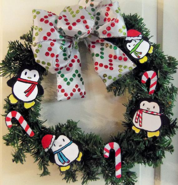 Christmas kids wreath - for the front door