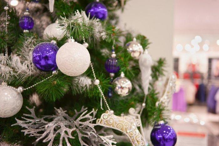 Christmas ornament - balls - blue and purple