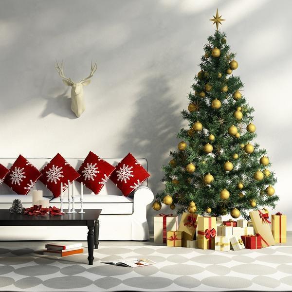 Christmas ornament - pillows - making a garland