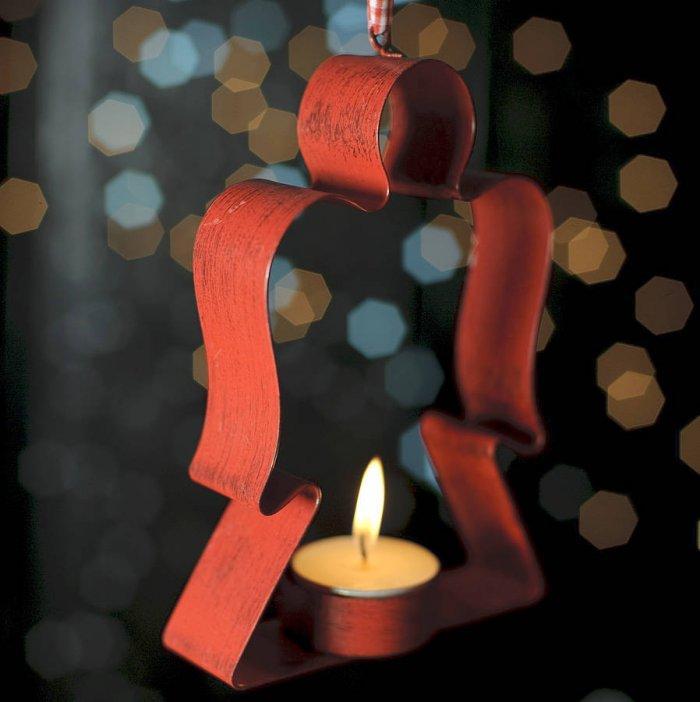 Christmas red candleholder - for women