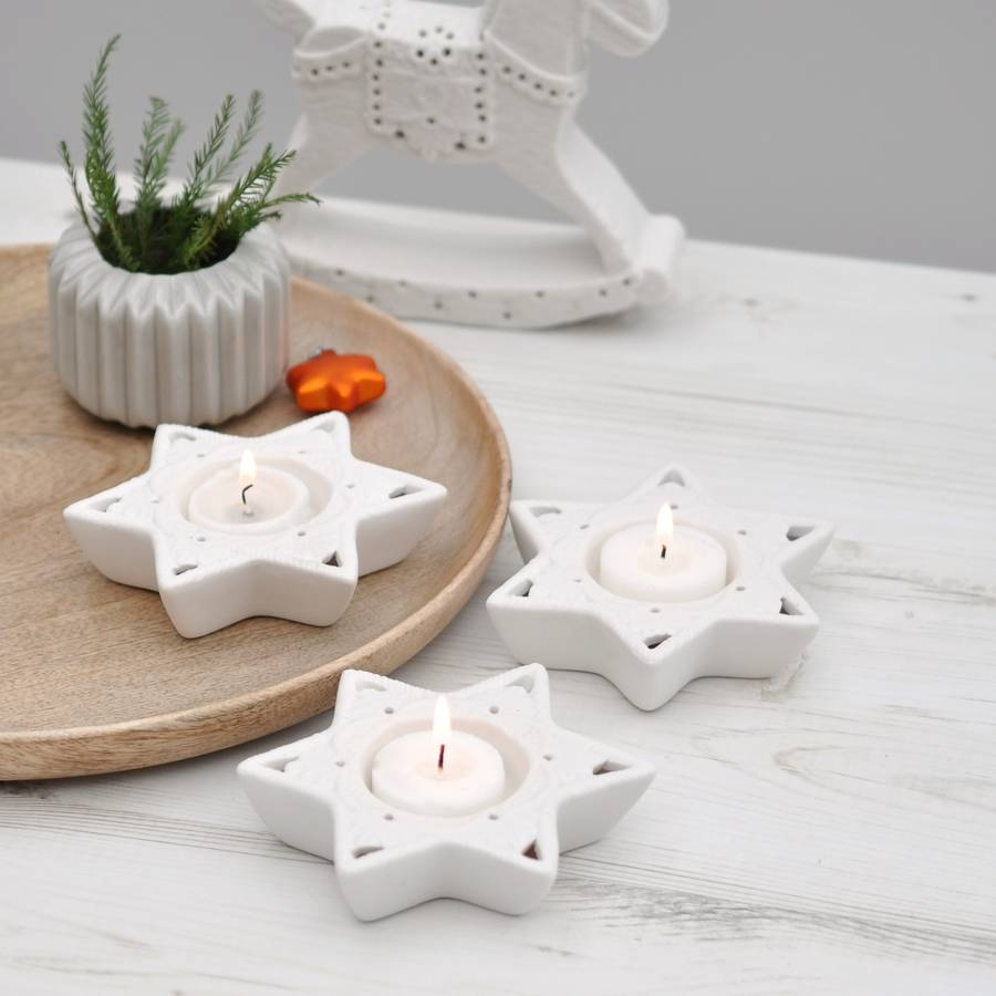 Christmas small candleholders - for women