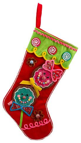Christmas sock - with applications