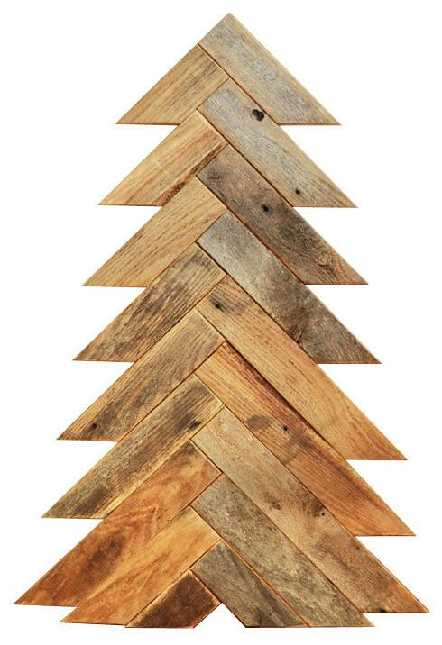 Christmas tree - made of parquet