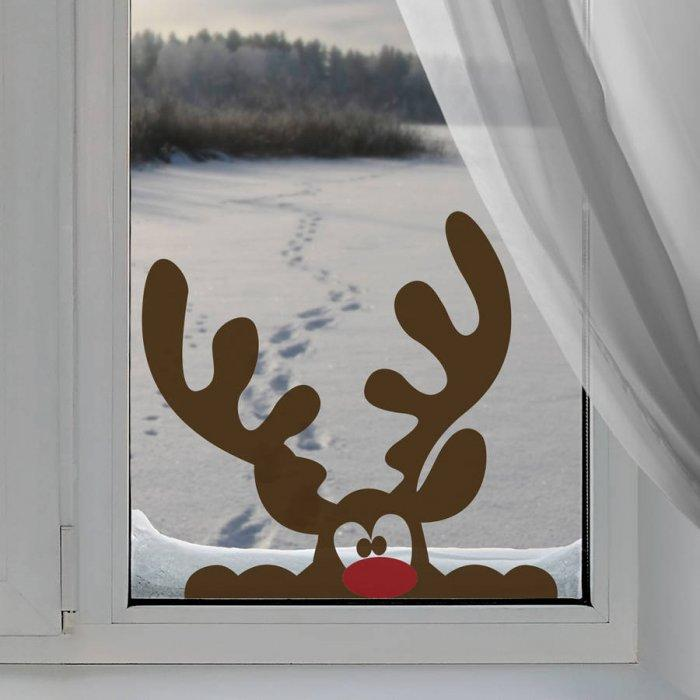 Christmas window decal - for women