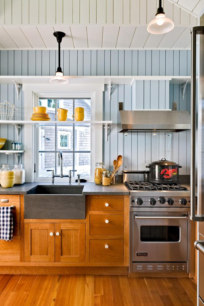 Colorful kitchen - with wooden accents