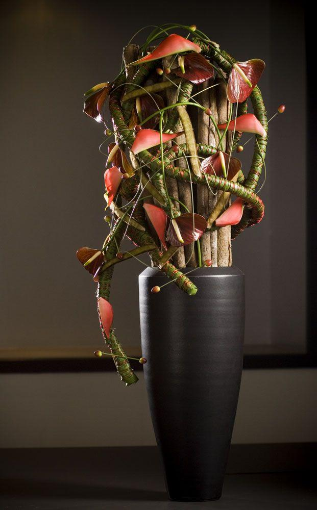 Contemporary floor vase 13 - made of black stylish material
