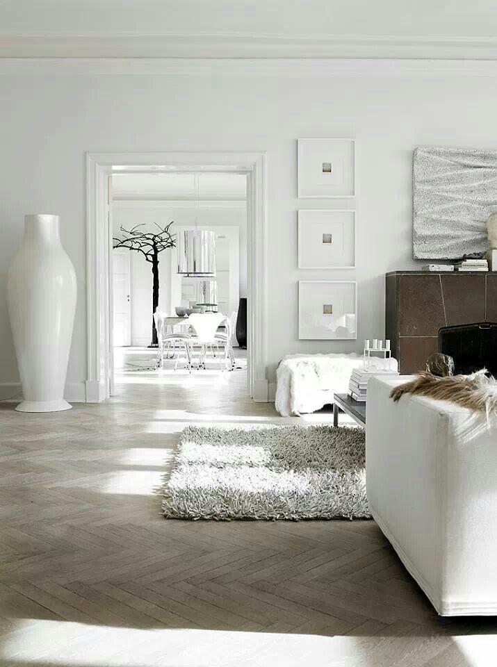 Contemporary Floor Vase 2 Made Of White Ceramics Founterior