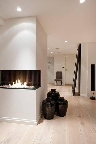 Contemporary floor vase 7 - black design in modern living room