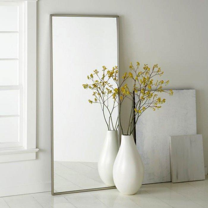Contemporary floor vase - in white color
