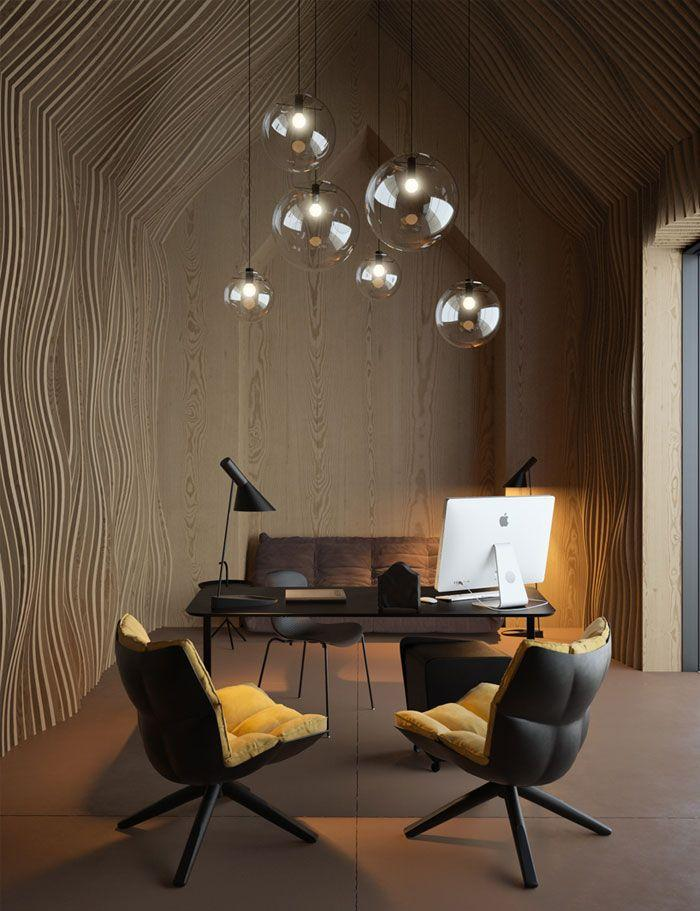 Contemporary lamps - hanging from the ceiling