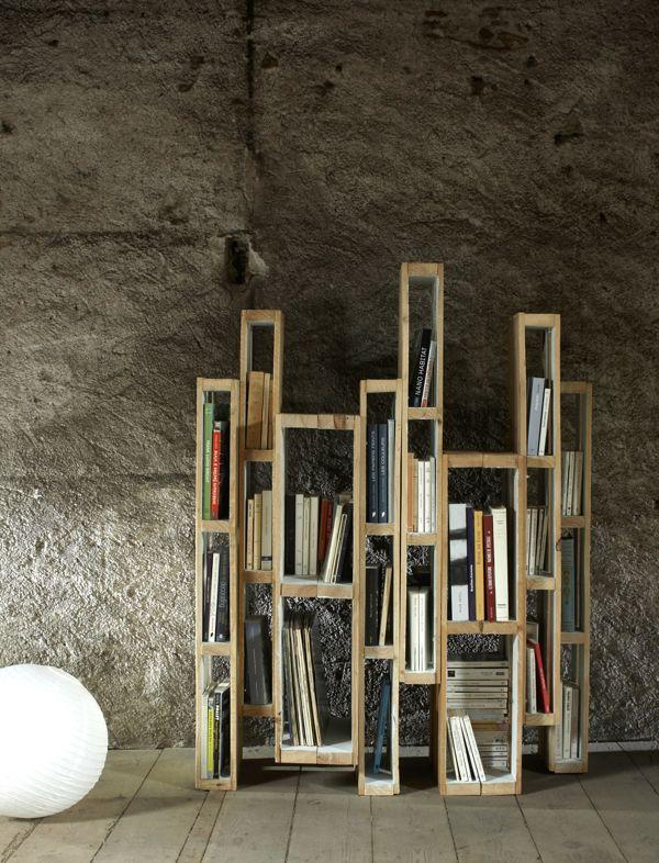 Contemporary pallet bookshelves - with ultra stylish design