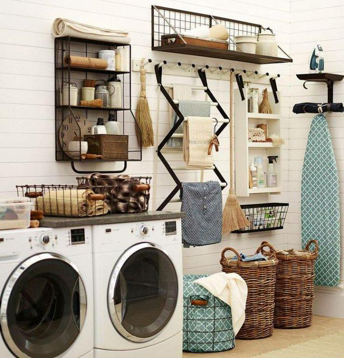 Creative laundry rack - with towels on them