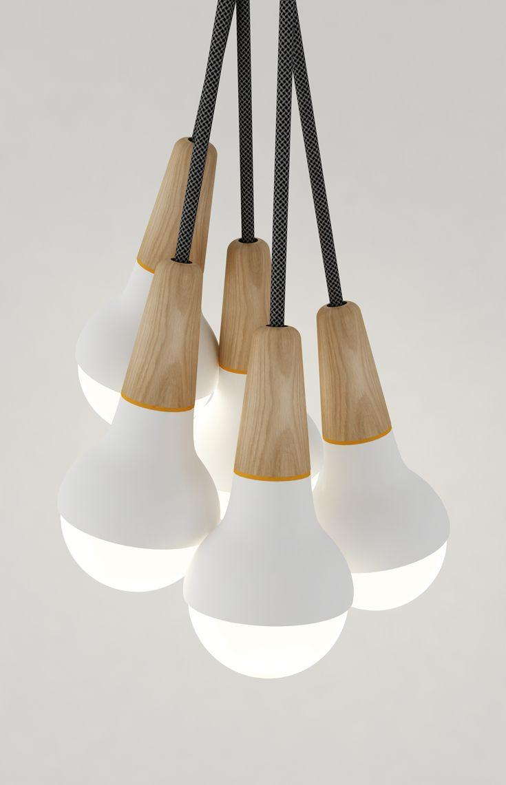 Creative modern pendant - consisting of many bulbs