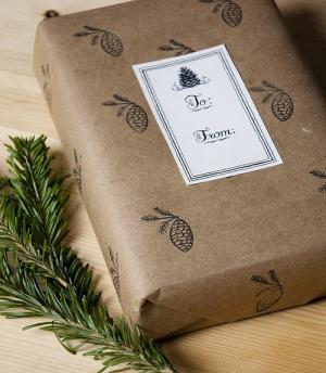 Creative personal gift - packed with paper