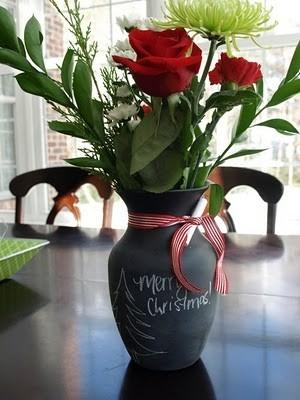 Creative vase 12 - with red roses