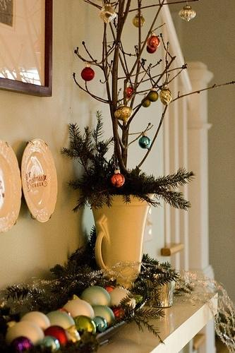 Creative vase 18 - with Christmas tree branches