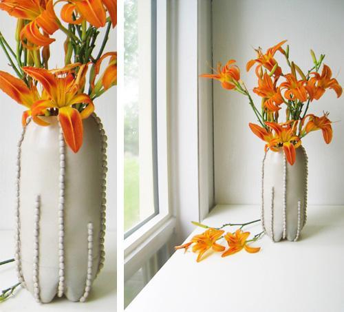 Creative vase 6 - with orange flowers
