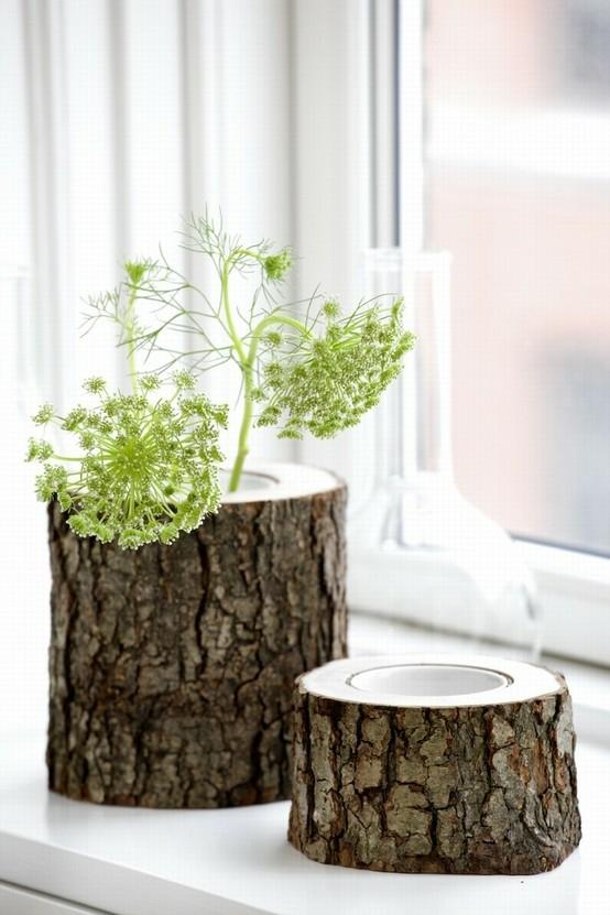 Creative vase 7 - made of tree trunk