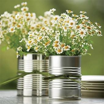 Creative vase - with white flowers