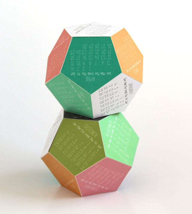 DIY 3D calendar 1 - one above another