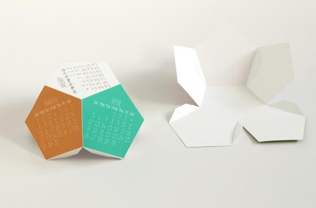 DIY 3D calendar 3 - the folding
