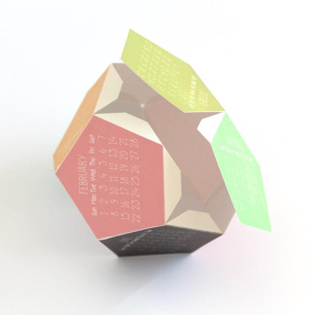 DIY 3D calendar 4 - the attaching