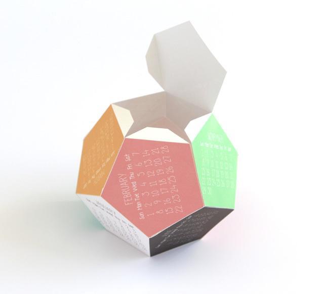 DIY 3D calendar 5 - the finish