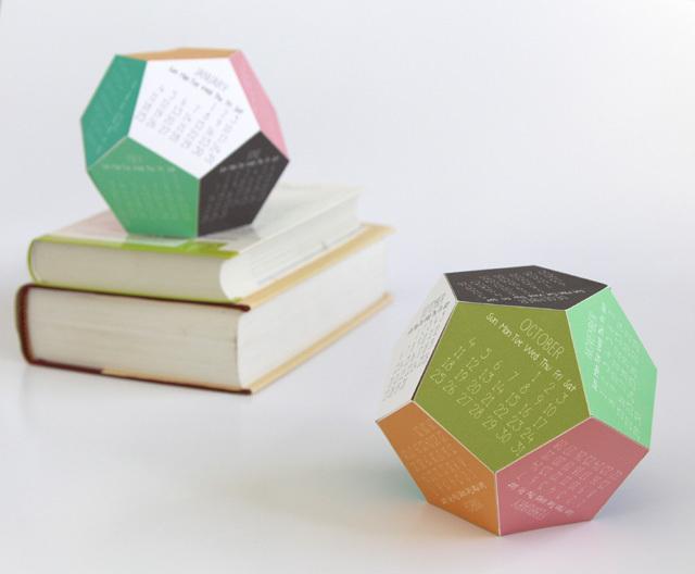 DIY 3D calendar 6 - ready