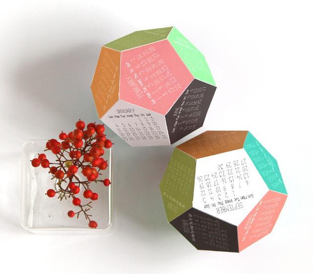 DIY 3D calendar 7 - as part of the home decor
